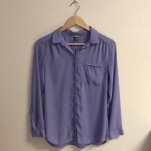 Light Purple/ Lilac Chiffon Blouse Top
